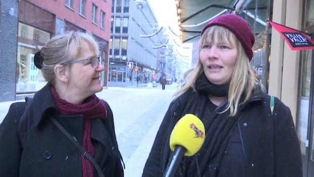 """Första riktiga snön i Stockholm: """"Wow, liksom"""""""