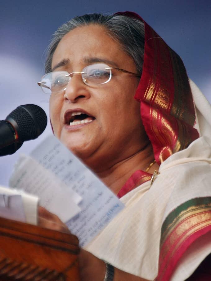 Bangladeshs premiärminister Sheikh Hasina. Foto: / AP