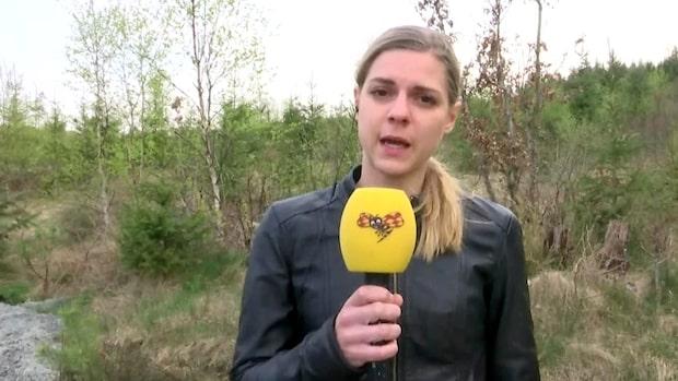 """""""Har brunnit nära Landvetter sedan i går kväll"""""""