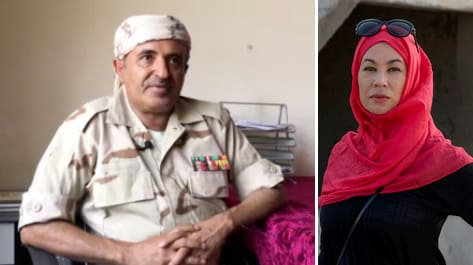 Att intervjua någon från regeringsarmén i södra Jemen – där