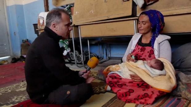 Laila fick föda sin son under flykten från byn