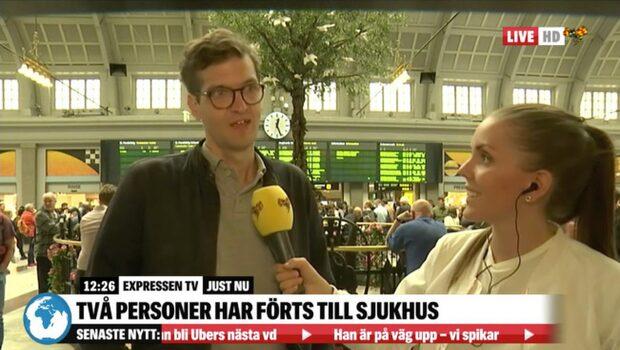 """Trafikstopp på Stockholms central efter brand: """"Frustrerande"""""""