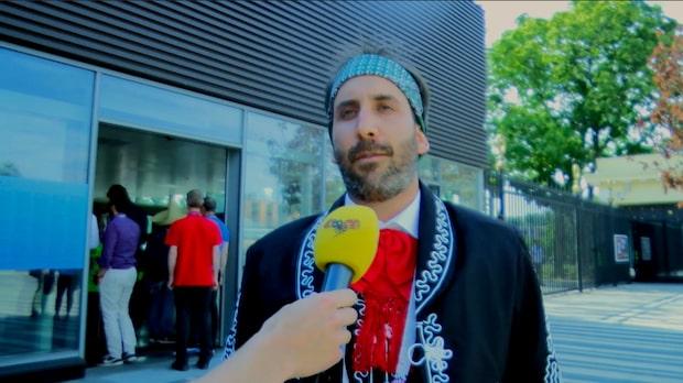 Mexikanska fansen inför mötet med Sverige
