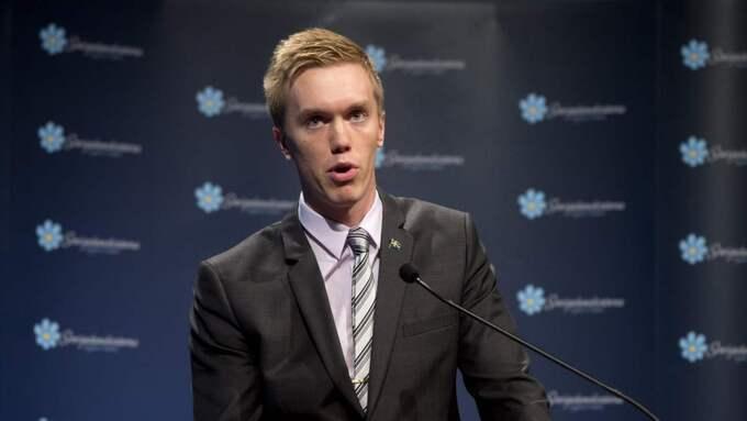 William Hahne är ordförande för SD i Stockholms stad. Foto: Sven Lindwall