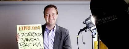 Piratpartiets ledare Rickard Falkvinge. Foto: Robban Andersson