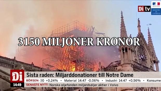 Dagens siffra: Miljarddonationer till Notre Dame