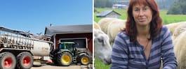 Lantbrukaren Elisabet, 58,  hjälper med egen traktor