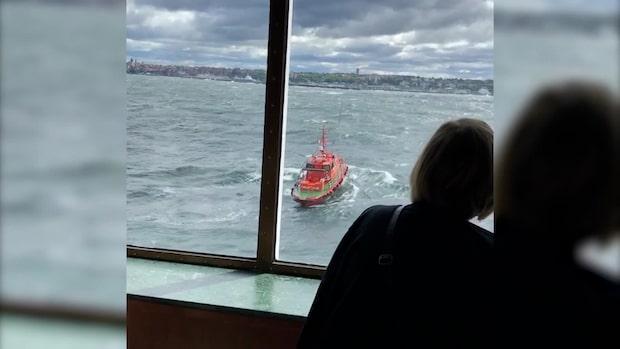 1 595 personer strandades på Östersjön utanför Visby