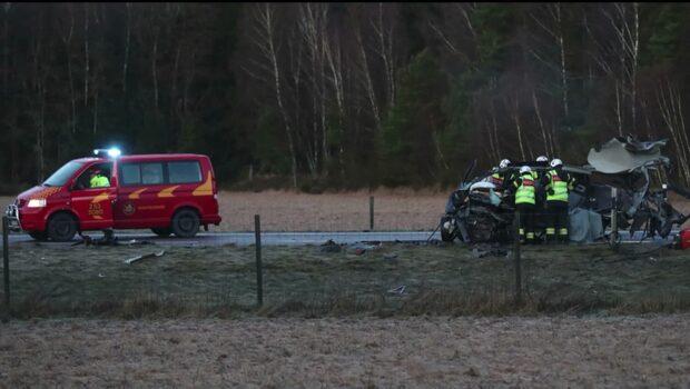 En död efter frontalkrock med lastbil