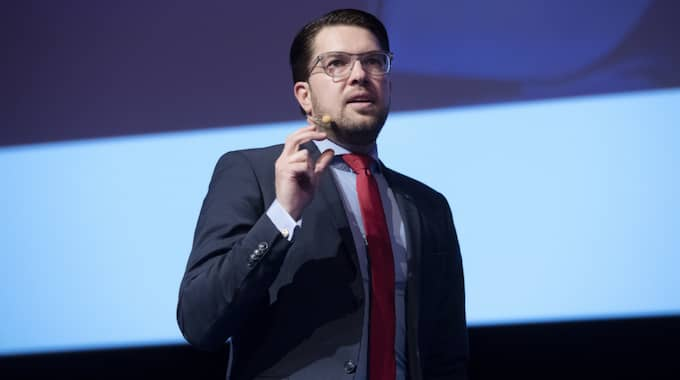 Sverigedemokraternas partiledare Jimmie Åkesson. Foto: Sven Lindwall