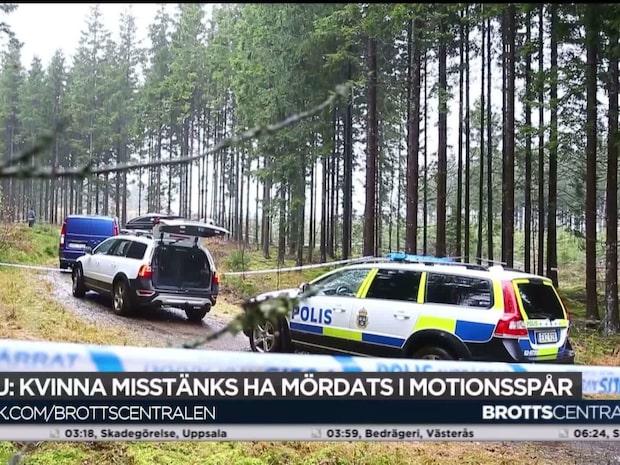 En kvinna har hittats död vid ett motionsspår i Ulricehamn
