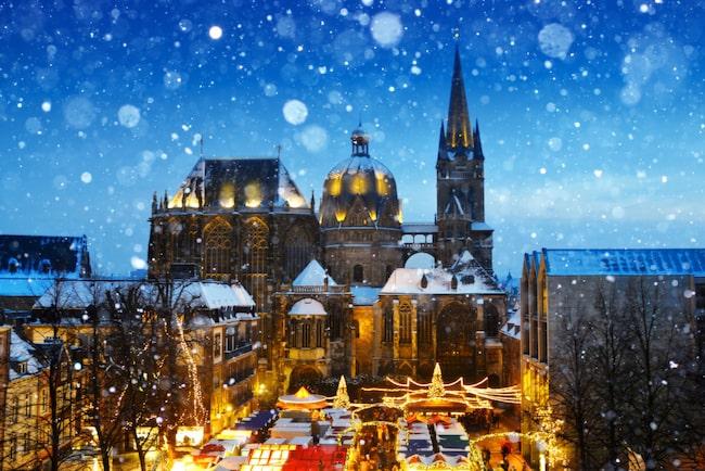 Tyska Aachen, en uppstickare på julmarknadsarenan.