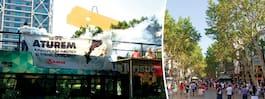 Aktivister stormade  turistbuss i Barcelona