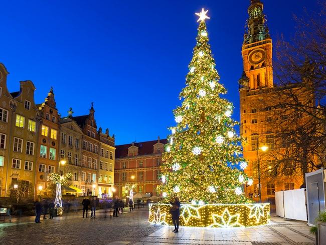 Polska Gdansk är den billigaste jul- och nyårsstaden att resa till.