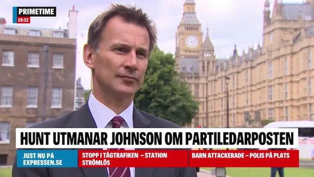 Jeremy Hunt utmanar Boris Johnson
