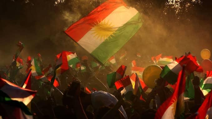 Manifestation i kurdiska Erbil i Irak. Foto: SAFIN HAMED / AFP