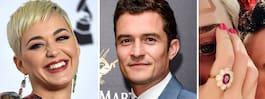 Katy Perry och Orlando Blooms lycka – är förlovade