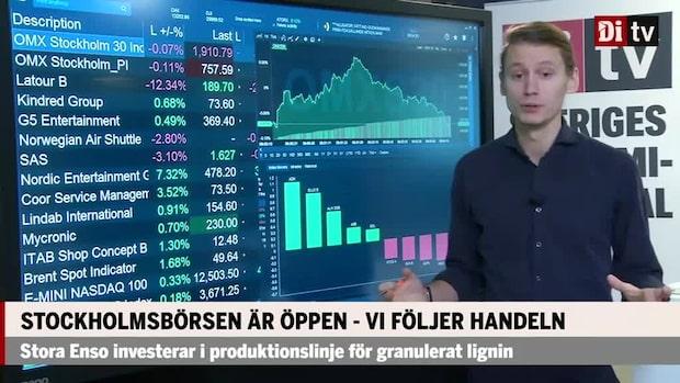 Marknadskoll: Öppning i sidled – Nent upp 8 procent, Latour faller 12 procent