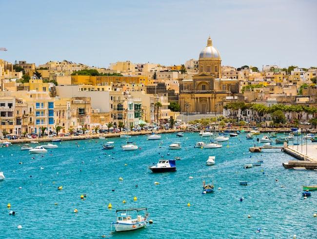 """Barockstaden Valletta, som också kallas """"palatsens stad"""", är uppbyggd som en fästning."""