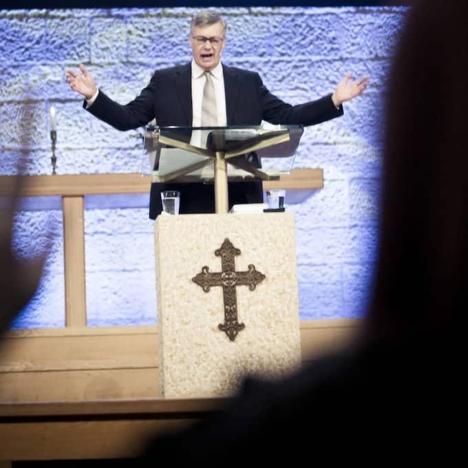 Sista predikan. Ulf Ekman håller en avslutningspredikan på Livets ord i Uppsala. Foto: RICKARD L ERIKSSON/NEW ART PRODUCTION