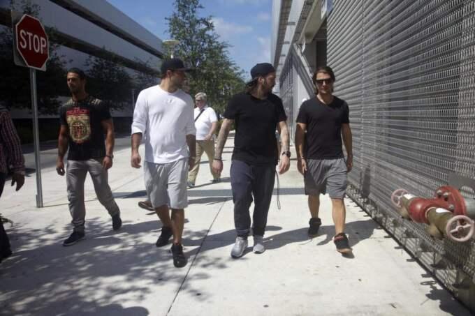 "Sebastian Ingrosso, Steve Angello och Axel ""Axwell"" Hedfors. Foto: Fredrik Skogkvist"