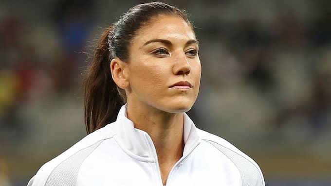 Fotbollsstjärnan Hope Solo har tidigare vittnat om sex bland delatagrna i OS-byn. Foto: EUGENIO SAVIO / AP TT NYHETSBYRÅN