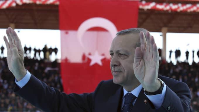 Det vi vet, och som jag är övertygad om, är att EU inte kan fortsätta vara i händerna, nästan kidnappade, av Erdogan-regimen, säger Wikström i Ekots lördagsintervju. Foto: Kayhan Ozer / AP TT NYHETSBYRÅN