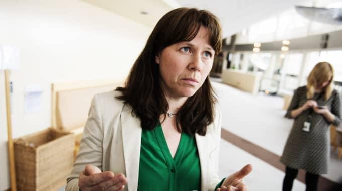 Åsa Romsons Miljöpartiet har det sämsta stödet på sju år Foto: Anna-Karin Nilsson