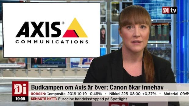 Di Nyheter 10.00 22 okt - Canon ökar innehavet i Axis