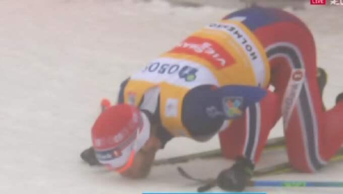 Johnsrud Sundby efter målgång Foto: Eurosport