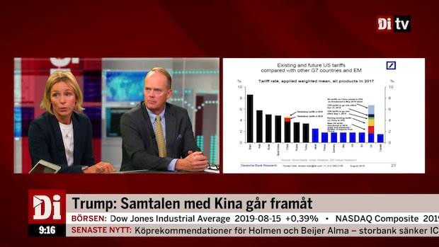 """Jeansson om handelskriget: """"Ingen hjärtattack, mer reumatism"""""""