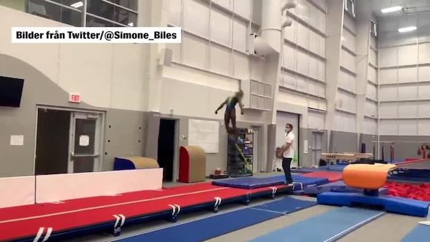 Se OS-stjärnans galna volter – Simone Biles hänför fansen