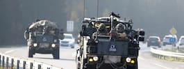 Militärtransporter  skapar köer på E6