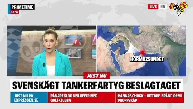 Svenskägt tankerfartyg beslagtaget av Iran