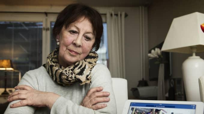 Birgitta Jacobsson, blev utsatt för bedragare på facebook - nu vill hon varna andra. Foto: Robin Aron