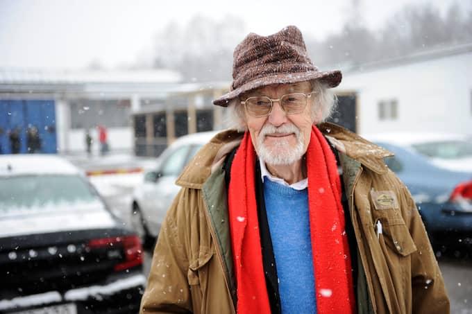 """Bertil Torekull under minnesstunden för sin gode vän, Ingvar Kamprad. """"Han var faktiskt en helt jäkla vanlig människa """", säger Torekull om möbelkungen. Foto: JENS CHRISTIAN / EXPRESSEN/KVP"""