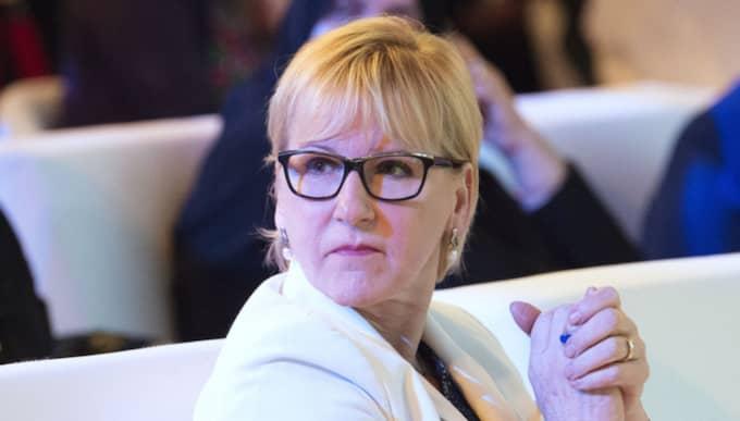 Nu kommenterar Margot Wallström förundersökningen om mutbrott. Foto: Sven Lindwall