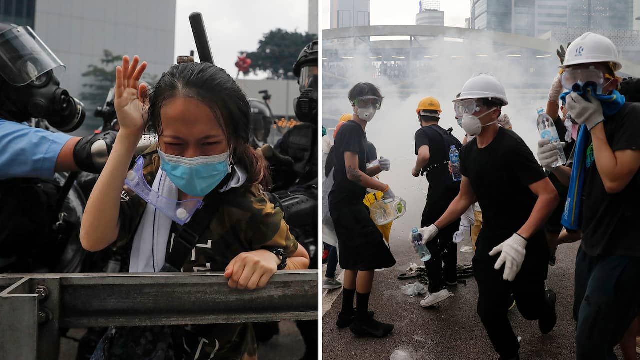Myndigheterna i Hongkong stänger – efter stora kaoset