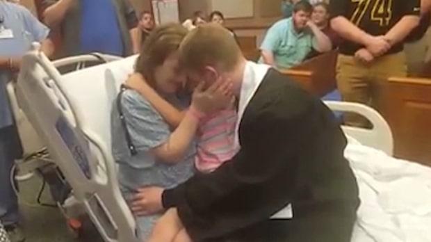 Här uppfyller sonen sin döende mammas sista önskan