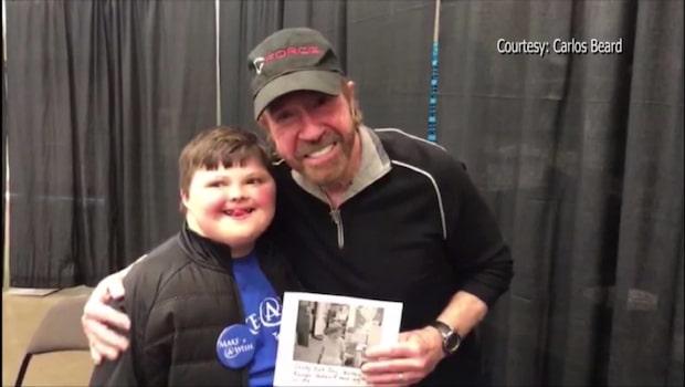 Tonåringens dröm gick i uppfyllelse - fick träffa Chuck Norris