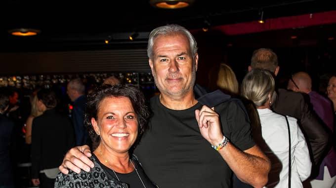 Glenn tillsammans med kärleken Camilla. Foto: ANDERS YLANDER
