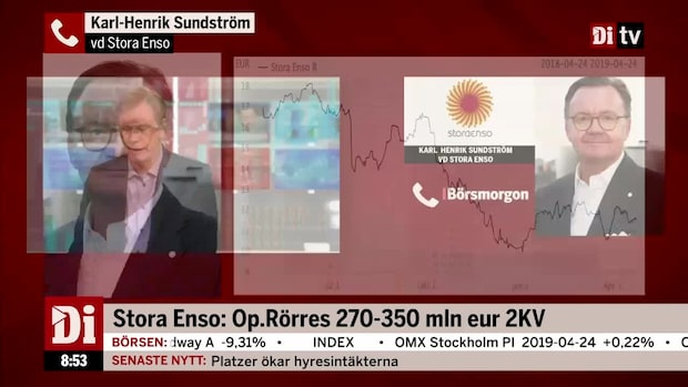 """Vd:n för Stora Enso: """"En lovande start på året"""""""