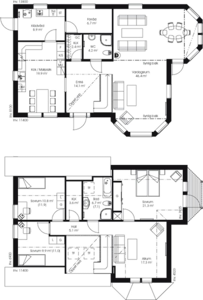 Fakta<br>Namn: Fladen 186<br>Typ: 1,5-planshus med fem rum och kök på 186,2 kvadratmeter.<br>Pris: 2 800 000 kronor i Göteborgsregionen. 15 038 kronor kvadratmetern.<br>Husföretag: Västkustvillan vastkustvillan.se