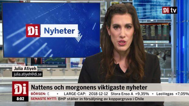 Nyheter 13/12 – Viktigaste nyheterna innan börsöppning