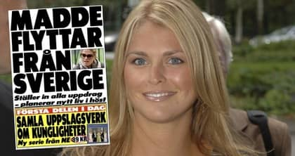 Expressen avslöjade redan 26 maj att prinsessan Madeleine flyttar utomlands till hösten. Foto: Hot Pics Gossip/Hpg
