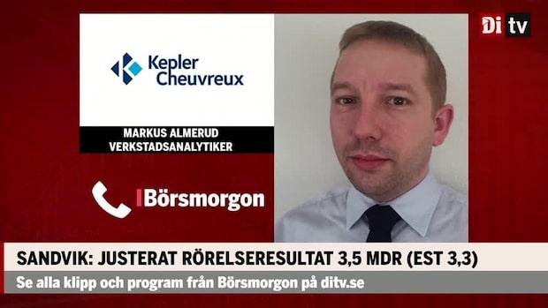 Verkstadsanalytikern om Sandvik: Finns både plus och minus