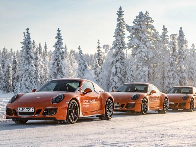 Tyska Porsche har en testanläggning utanför Arjeplog.