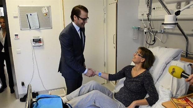 Prins Daniel åter på Karolinska