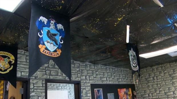 Hogwartsklassrum för att motivera eleverna