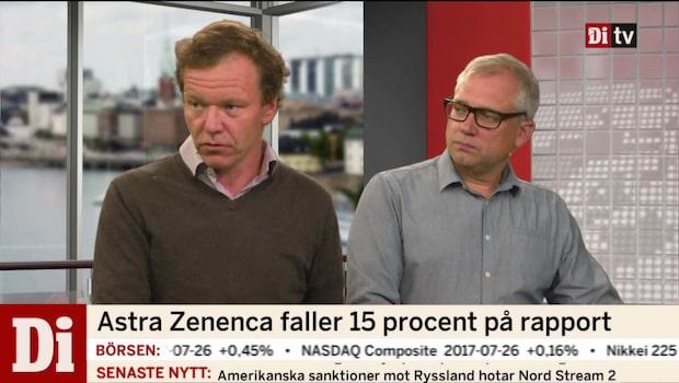 Astra Zeneca faller 15 procent på rapport